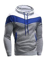 Legou Men without Zipper Splicing Hoodies Sweatershirts