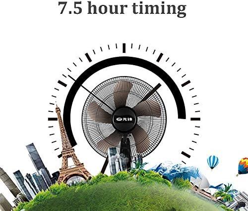 Vloerventilator met afstandsbediening en timer, 3 snelheidsinstellingen, hoogte uittrekbaar 21 cm, koeling voor de zomer in huis of op kantoor. KByoe93O