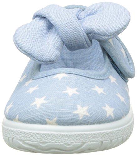 victoria Unisex Baby Mercedes Estrellas Pañuelo Hausschuhe, Rose, 19-20-21-23-24-25-26-27 Bleu (Celeste)