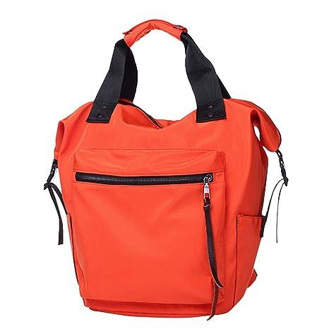 Amazon.com  Women s Backpack Fashion Handbags Ladies Shoulder Bag Zip Tote  Bag School Bag Work Bag for Girls Women (Orange-Red)  DFSanaShanao 38e3639fcbaf4