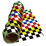 CBT20336 National Marker Tape, Checkerboard, Red White, 2X36 Yards