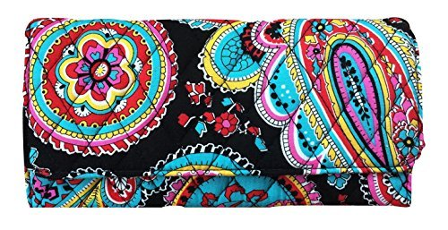 Vera Bradley Trifold Wallet (Parisian Paisley with Black Interior)