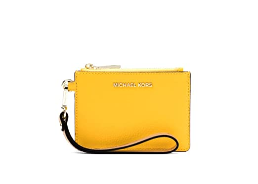 8ab52f2c78c7 MICHAEL Michael Kors Mercer Leather Coin Purse Card Case - Sunflower ...