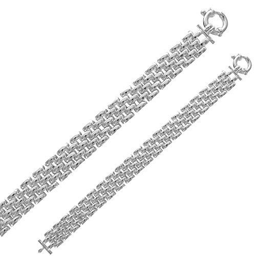 Jouailla - Bracelet 5 rangs en argents 925/1000 (20 cm)