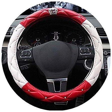 Back Packers Auto coprivolante Universale Crystal Crown PU Copertura del Volante 38, 1 cm 1cm CN