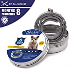 Flea and Tick Collar for Dogs and Cats, Plant Essential Oil Safe Non-Toxic