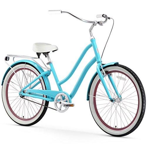 Enterprises Tour Cruiser - sixthreezero EVRYjourney Women's Single-Speed Step-Through Hybrid Cruiser Bicycle, Teal w/White Seat/Grips