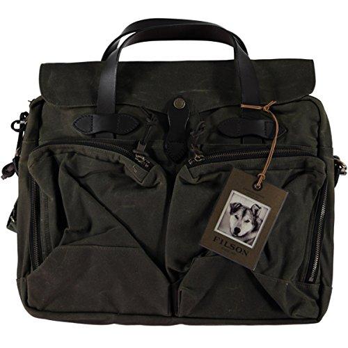 Flap Pocket Briefcase (Filson Unisex 24 Hour Tin Briefcase Otter Green Briefcase)