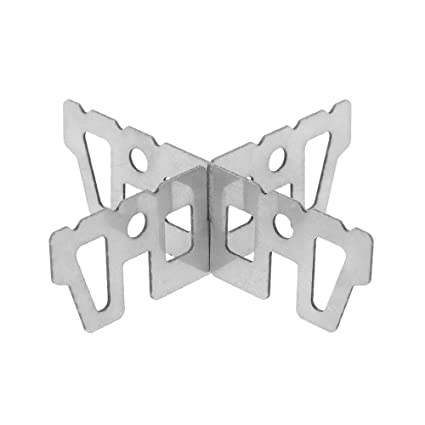 Soporte de titanio de hornillo de alcohol de Lixada, soporte en forma de cruz para