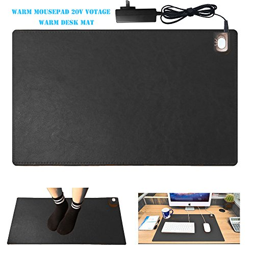 4v Safe Voltage Automatic Control Warm Official Big Mouse Pad Game Mouse Pad Extended Edition Pu Gaming Mouse Mat Functional,foot Warmer Pad Warm Desk Pad 23.6