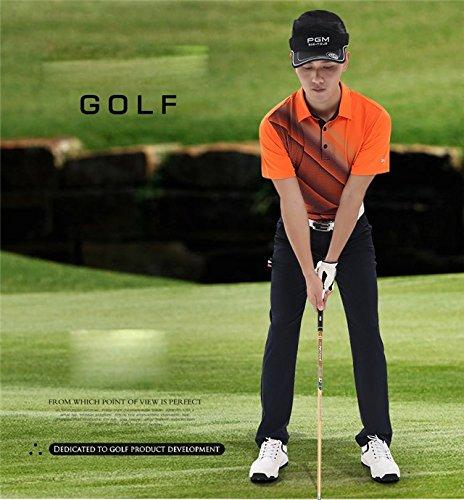 Goodgoods メンズゴルフパンツ ゴルフロングパンツ ゴルフウェア ゴルフズボン 男性用 スポーツパンツ アウトドアパンツ 日焼け対策 UVカット トレーニングパンツ 021-xsty-kuz017(3XL ネイビー)