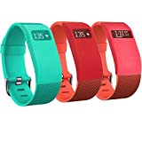 RedTaro Fitbit Protector Covers Sleeves for Fitbit Charge, Fitbit Charge HR (#310 Teal, Tangerine & Pink)