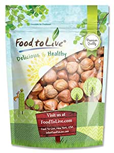 Hazelnuts / Filberts, 8 Ounces - Raw, No Shell, Kosher, Bulk