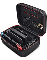 VORI Case for Nintendo Switch - Deluxe Travel Hard Console and Carrying Protective Game Pouch Shell Accessories Cover Carry Portable