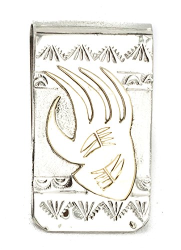 ($160Tag 12ktGF Silver Bear Paw Certified Navajo Native American Money Clip 11256 Made by Loma Siiva)