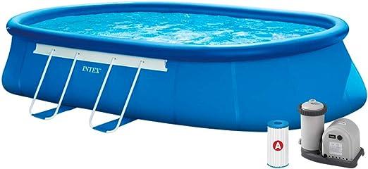 Intex 26194NP Piscina desmontable, con depuradora, 16.628 litros ...