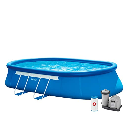 Intex 26194NP Piscina desmontable, con depuradora, 16.628 ...