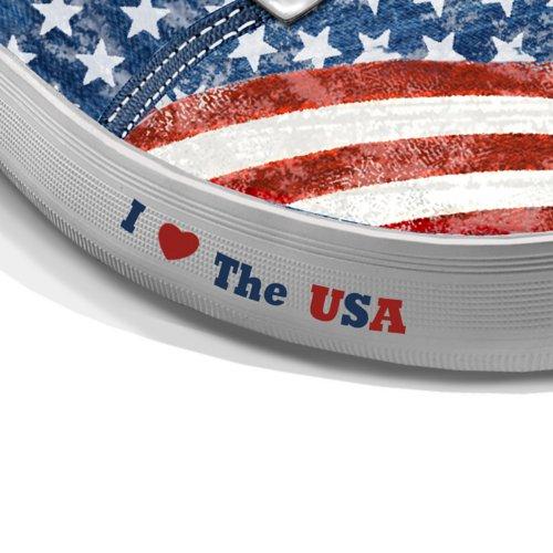 Scarpe Da Donna: Scarpe Da Ginnastica Di Tela Da Donna Di Orgoglio Americano Dallo Scambio Bradford Multicolore