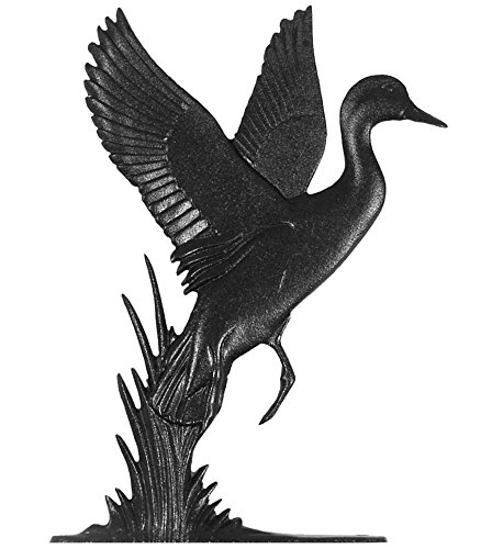 Whitehall Products Duck Plaque, Black - Whitehall Products Duck