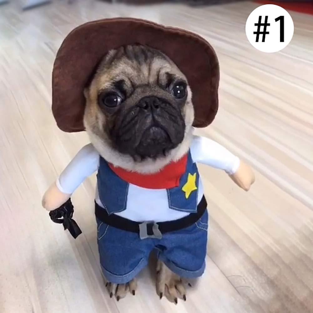 laamei Disfraz de Mascota de Navidad Halloween Costume Ropa de Vestir Sudadera Abrigo Vestido de Ej/ército Rojo para Mascotas Peque/ño Cachorro Perro Perrito