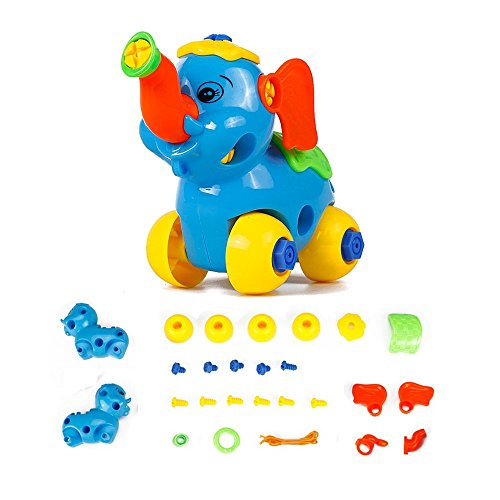VidaToy Take A Part Toys Amazing Detachable Elephant Play Car Toy For Kids (colors may vary)
