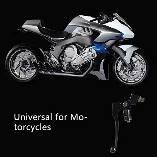 Chrom-Schwarz Aluminium Links 22mm 7//8 Lenker Kupplungshebel F/ür Pit Dirt Bike Pitbike Motorrad ATV Schwarz