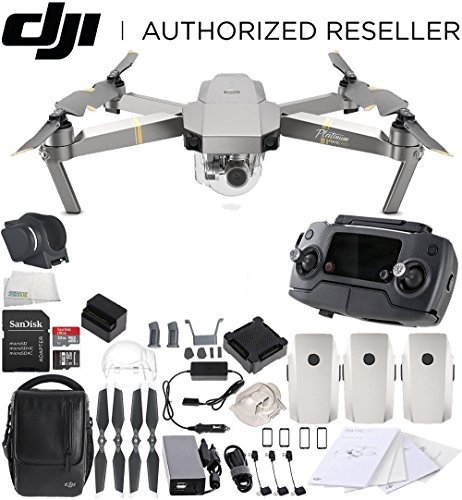 DJI Mavic Pro Platinum FLY MORE COMBO Collapsible Quadcopter Drone Bundle