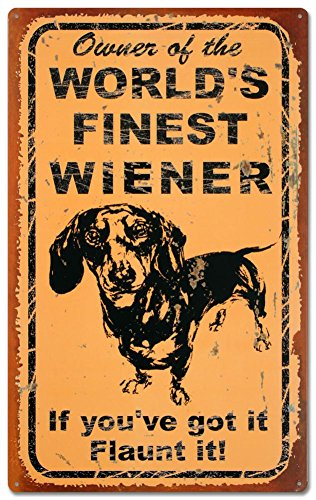 Used, Ohio Wholesale World's Finest Weiner Tin Sign 10 x for sale  Delivered anywhere in USA
