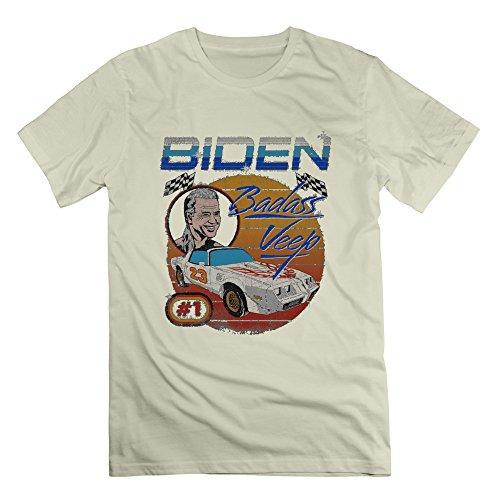 Joe Biden Badass Veep T-shirt M Natural For Men 100% Cotton