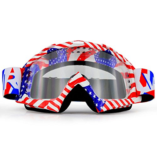 Motorcycle Goggles Dirt Bike ATV Motocross Mx Goggles Glasses for Men Women Youth Kids (8 Color) - Goggle Sale