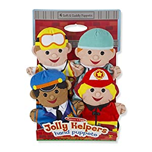 melissa & doug jolly helpers hand puppets (set of 4) - construction worker, doctor, police officer, and firefighter - 51pDTff0vtL - Melissa & Doug Jolly Helpers Hand Puppets – The Original (Set of 4, Construction Worker, Doctor, Police Officer, Firefighter, Great Gift for Girls & Boys – Kids Toy Best for 2, 3, 4, 5, 6 Year Olds)