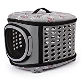 Hard Sided Pet Carriers Pet Houses Cats or Dogs Out Portable Cages (Grey)