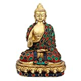 CraftVatika Thai Blessing Zen Buddha Statue Buddhist Peace Harmony Sculpture