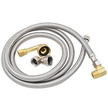 "TT FLEX Certified Appliance Flexible stainless steel braided dishwasher connector,3/8""comp3/8""comp,5FT"