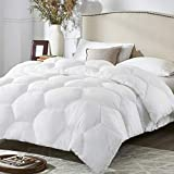 Alternative Comforter - MoMA White Quilted King Comforter - Duvet Insert Comforter Set - Elegant Bedding for Comfort -Soft Comforter - Hotel Style Down Alternative Comforter - Hexagonal Lattice Design Comforter - 100