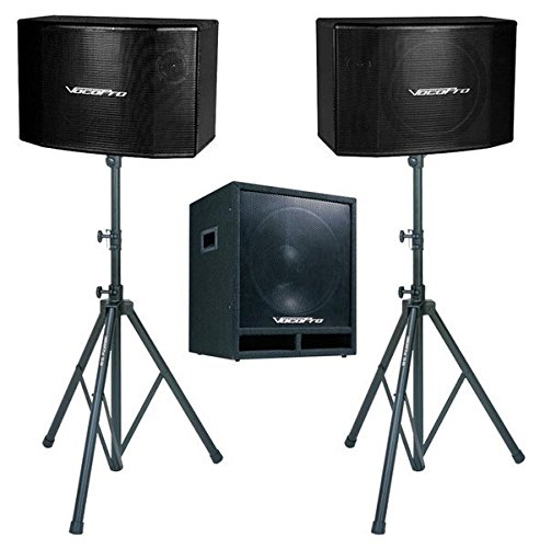 VocoPro SSP600 600W 15-Inch Vocal Speaker with 15-Inch (Vocopro Sub)