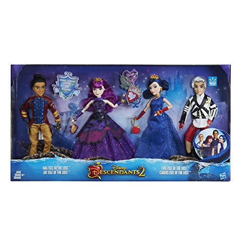 Disney Descendants 2 Dolls Isle of the Lost 4 Pack Mal, Evie, Carlos,  Jay (Exclusive)]()