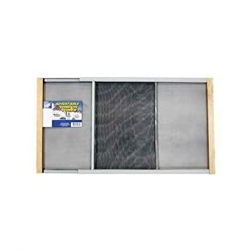 Fashion Window Screen Adjustable Wood Mesh Frame Window Insect Mosquito  22 37u0026quot;