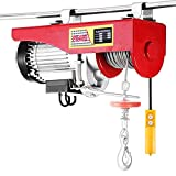 VEVOR Electric Hoist Lift 440LBS 200KG Overhead Electric Hoist 110V Electric Wire Hoist Remote Control Garage Auto Shop Overhead Lift (200kg)