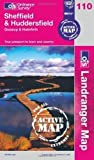 Sheffield and Huddersfield, Glossop and Holmfirth (OS Landranger Map Active) C4 Edition by Ordnance Survey published by Ordnance Survey (2010)