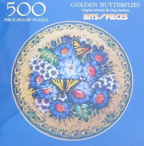Bits and Pieces 500pc. Puzzle-Golden Butterflies