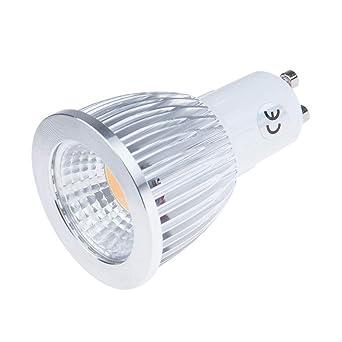 Konesky 9W GU10 LED COB Proyector Bombilla regulable Ahorro de energía AC200-245V 800-