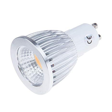 Konesky 9W GU10 LED COB Proyector Bombilla regulable Ahorro de energía AC200-245V 800-900LM 2700K Blanco cálido