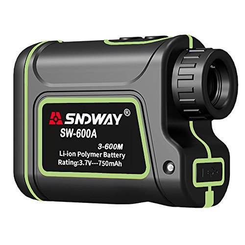 2018 Upgraded Edition SNDWAY Laser Range Finder 656 yards 7X Optical Zoom Golf Rangefinder Distance/Height/Speed/Angle Measurement Built-in 710mAh Lithium Battery for Hunting/Golf/Outdoor (710 Mah Lithium Battery)