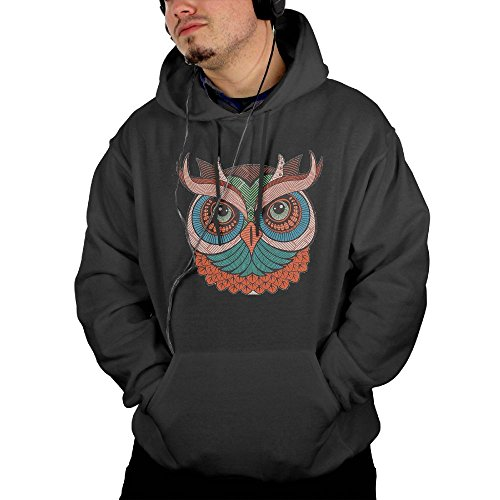 Korean National Costume For Male (Mens Cute Colorful Owl Pullover Hooded Sweatshirt With Front Pocket Medium)