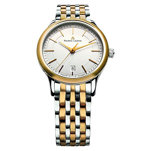 Maurice Lacroix Les Classiques Silver Dial Two Tone Mens Watch LC1117-PVY13-130 130 Maurice Lacroix Watches