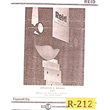 Reid 618HYT HYD and HYD/DF, Reid-O-Matic Grinder, Operators Manual