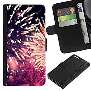 Planetar® Modelo colorido cuero carpeta tirón caso cubierta piel Holster Funda protección Apple (5.5 inches!!!) iPhone 6+ Plus / 6S+ Plus ( Fireworks 4'Th Independence Day July )