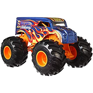 Hot Wheels Monster Trucks Dairy DELIVERY die-cast 1:24 Scale Vehicle with Giant Wheels for Kids Age 3 to 8 Years Old Great Gift Toy Trucks Large Scales