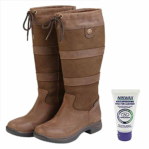Dublin Waterproof Leather Country River Boots - FREE NIKWAX GIFT - All Sizes/Widths - Chocolate: Wide: Adults 5